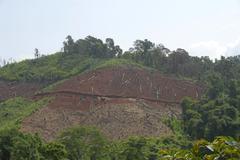 Environmental destruction, deforestation in the mountains near boun tai, phon Kuvituskuvat
