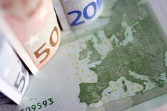Euro-bills Stock Photos