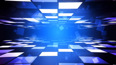 Blue Fashion Corridor Stock Footage