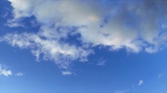 Blue sky clouds hd loopable - stock footage