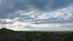 Sunset timelapse Bayan Tau mountains. Stock Footage