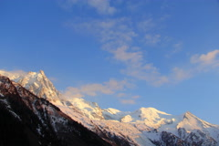 Mont Blanc moutains timelapse Stock Footage