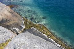 artic ocean rock coast, lofoten, norway, scandinavia, europe - stock photo