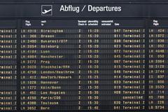 departure board - stock photo