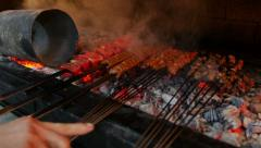 Meat on grill Stock Footage