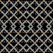 Kitchen knife pattern motif in geometric symmetric style against white backgr Stock Illustration