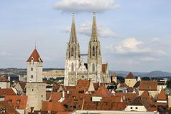 Stock Photo of regensburg upper palatinate bavaria germany from the tower of the protestant