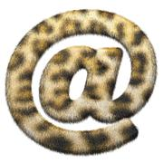 "Leopard fur Symbol ""@"" Stock Illustration"
