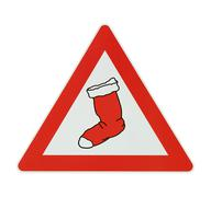 Attention! hang out your stockings - white background Stock Photos