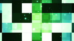 Green Reflected Panels Stock Footage