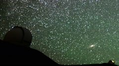 Astrophotography Time Lapse of Stars over Mauna Kea Observatories -Close Up2- - stock footage