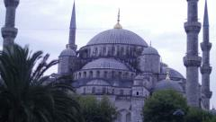 Time lapse Blue Mosque at night in Istanbul Stock Footage