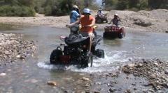 Antalya. Alanya. tourists go on stream at the Quad. - stock footage