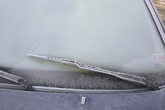 Stock Photo of frost on a car in wintertime