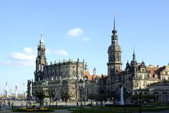 theatre square residence castle hofkirche dresden saxony germany - stock photo
