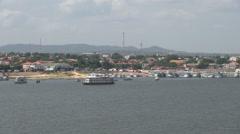 Brazil Santarem Amazon waterfront Time lapse s Stock Footage