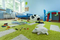 mess in kids room - stock photo