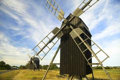 Windmill, island oland, sweden Stock Photos