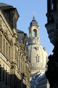 Stock Photo of cupola of frauenkirche picturesque old town dresden saxony germany