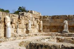 Stock Photo of ancient statues headless archaeological site salamis north cyprus