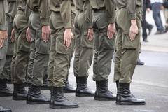 Young soldiers at their adjuration, heldenplatz (heroes sqaure), vienna, aust Stock Photos