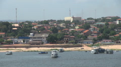 Brazil Santarem waterfront s Stock Footage