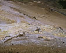 Stock Photo of sulphur and solfatara at the hill namafjall (432m), myvatn, iceland