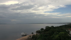 Brazil Rio Negro and cloudy sky at Manaus s Stock Footage