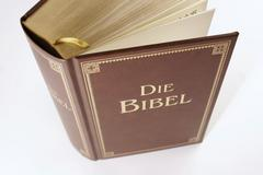 Bible with gold embossment Stock Photos