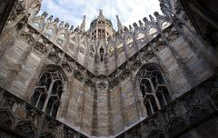 Gothic adornment on church in Milano - stock photo