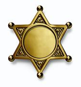 Stock Illustration of sheriff badge