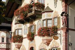 neubeuern district of rosenheim upper bavaria germany - stock photo