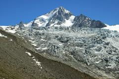 Aiguille du chardonnet, glacier du tour, alps savoie, france Stock Photos