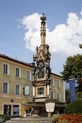 Stock Photo of franz karl fountain in bad ischl, salzkammergut, upper austria