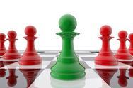 Chess pawn winner Stock Illustration