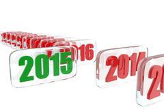 2015 new year Stock Illustration