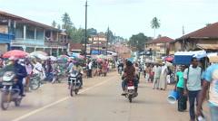 driving true Africa City BO Sierra Leone - stock footage