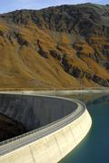 Arch dam moiry, valais, switzerland Stock Photos