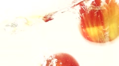 Fresh Apples underwater in Slow Motion - stock footage