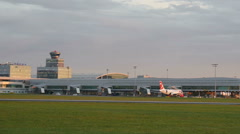 International Airport at Prague Stock Footage