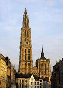 Cathedral of our lady, antwerp, belgium Stock Photos