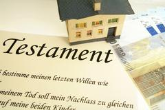Symbolic for testament, to bequeath a house Stock Photos