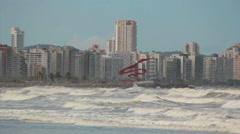 View of the city. Santos, São Paulo, Brazil. Buildings. Litoral coast. Stock Footage