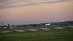Airplane After Landing Stock Footage