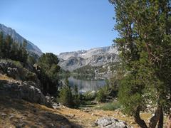 Long Lake below Bishop Pass - stock photo