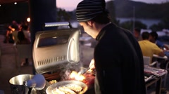 barbecue dinner - stock footage