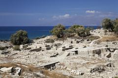 archeological excavation kommos (komos), southcrete, crete, greece - stock photo