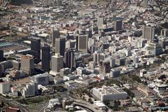 aerialview of capetown, south africa - stock photo