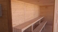Sauna room Stock Footage