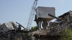Stage Center Theatre Demolition Stock Footage
